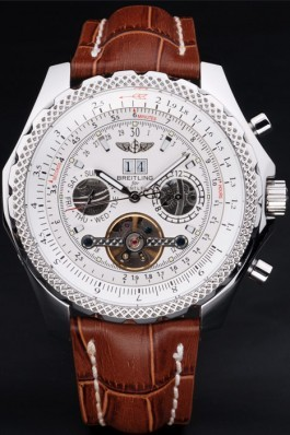 Luxury Top Replica 7822 Brown Leather Strap Bentley Motors Brown Watch