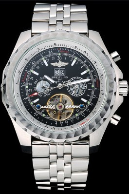 Breitling Bentley Mulliner Tourbillon Black Dial Stainless Steel Case And Bracelet 622731