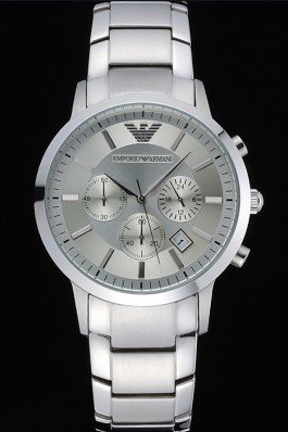Emporio Armani Classic Chronograph Silver Dial Stainless Steel Bracelet 622344