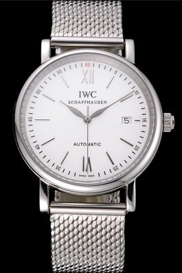Swiss IWC Portofino Stainless Steel Case White Dial Steel Bracelet 622670