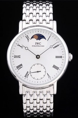 Iwc Top Replica 8264 Silver Stainless Steel Strap Schaffhausen 98