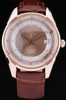 Men's Top Replica 8406 Strap Omega DeVille Watch