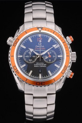 Omega Seamaster Planet Ocean Orange Tachymeter Black Dial Stainless Steel Strap 80241