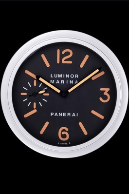 Panerai Luminor Marina Wall Clock Silver-Orange 621913