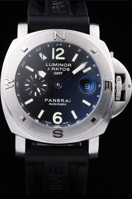 Panerai Top Replica 8540 Black Rubber Strap Luxury Black Watch 94