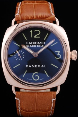 Brown Top Replica 8593 Brown Leather Strap Panerai Radiomir Luxury Watch