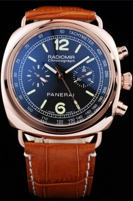 Black Top Replica 8611 Brown Leather Strap Radiomir Luxury Watch 83