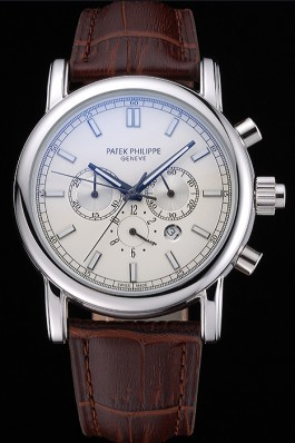 Patek Philippe Grand Complications Perpetual Calendar Stainless Steel Case White Dial Silver Chronograph 622264