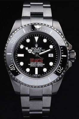 Rolex Top Replica 8896 Black Stainless Steel Strap DeepSea Jacques Piccard Limited Luxury Watch