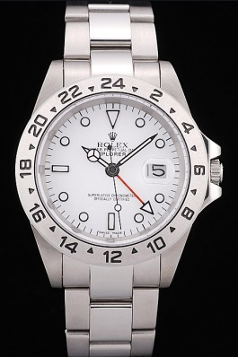 Rolex Top Replica 8861 Silver Stainless Steel Strap Explorer Stainless Steel Tachymeter White Dial