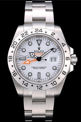 Rolex Explorer Top Replica 9162 Stainless Steel Bezel White Dial Tachymeter