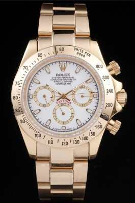 Rolex Top Replica 8842 Gold Stainless Steel Strap Gold Luxury Watch 23