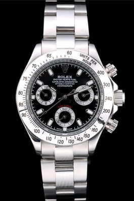 Rolex Daytona Top Replica 9177 Lady Stainless Steel Case Black Dial Tachymeter