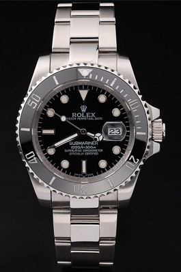 Rolex Top Replica 8881 Silver Stainless Steel Strap Submariner Black Ceramic Tachymeter Black Dial