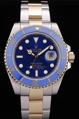 Rolex Top Replica 8886 Silver Stainless Steel Strap Submariner Blue Tachymeter Blue Dial
