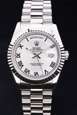 Rolex Top Replica 8800 Stainless Steel Strap Day-Date Luxury Watch 185
