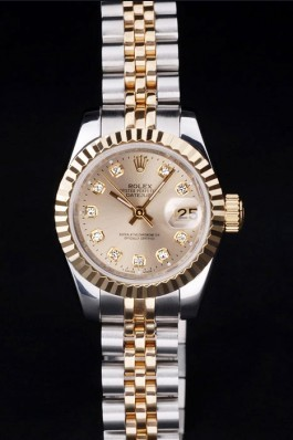 Rolex Top Replica 8706 Stainless Steel Strap Gold Luxury Watch 13
