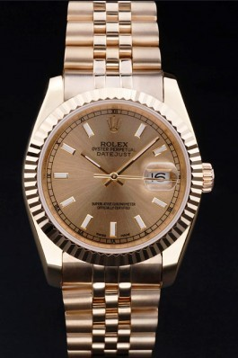 Rolex Top Replica 8695 Gold Stainless Steel Strap Datejust Luxury Watch