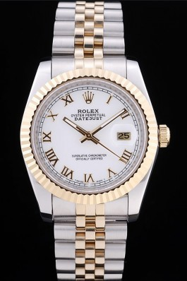Rolex Datejust White Dial Ribbed Bezel 7451