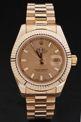 Rolex Top Replica 8696 Gold Stainless Steel Strap Gold Luxury Watch 210