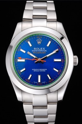 Rolex Milgauss Blue Dial Stainless Steel Case And Bezel 622838