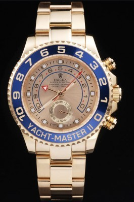 Rolex Top Replica 8919 Gold Stainless Steel Strap Gold Yacht-Master II Luxury Watch 239