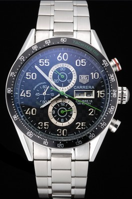 Tag Top Replica 7502 Strap Carrera Luxury watch with ion-plated bezel