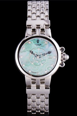 Tudor Clair de Rose Green Dial Stainless Steel Band 621494