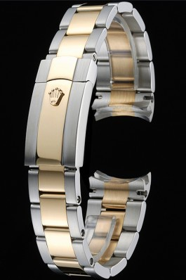 Rolex Plated Yellow Gold and Stainless Steel Link Bracelet 622488