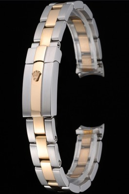 Rolex Plated Rose Gold and Stainless Steel Link Bracelet 622489