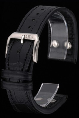 IWC Black Leather Bracelet 622606