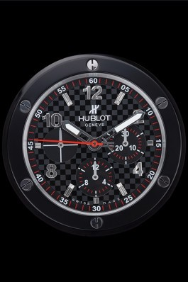 Hublot Big Bang King Power Wall Clock Black-Grey 622467