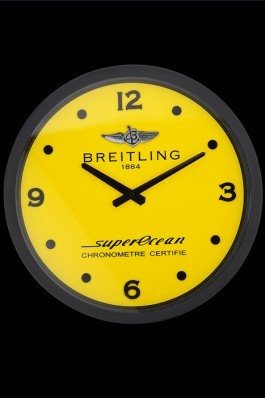 Breitling Superocean Wall Clock Black-Yellow 622464