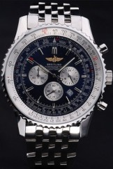 Luxury Top Replica 7896 Stainless Steel Strap Navitimer Steel Link Watch