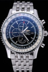 Breitling Navitimer World Black Dial Stainless Steel Bracelet 622512