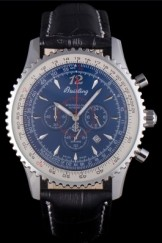 Breitling Top Replica 7892 Black Leather Strap Navitimer