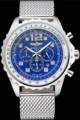Breitling Navitimer Top Replica 8953 Stainless Steel Strap Blue Dial