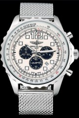 Breitling Navitimer Top Replica 8955 Stainless Steel Strap Beige Dial