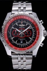 Breilting Bentley Supersports Black And Red Dial Stainless Steel Bracelet 622521