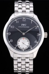 Iwc Top Replica 8242 Silver Stainless Steel Strap Schaffhausen 100