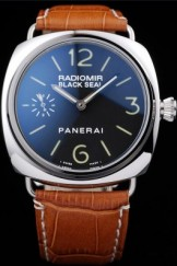 Brown Top Replica 8619 Brown Leather Strap Leather Panerai Radiomir Luxury Watch