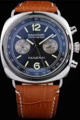 Panerai Top Replica 8602 Brown Leather Strap Brown Crocodile Leather Luxury Watch