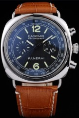Brown Top Replica 8603 Brown Leather Strap Leather Panerai Radiomir Luxury Watch