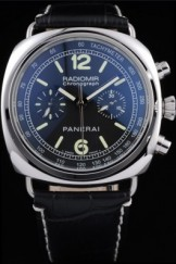 Men's Top Replica 8607 Black Leather Strap Leather Luxury Panerai Radiomir
