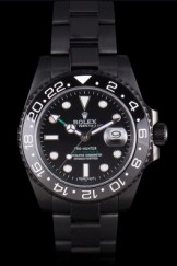 Rolex Top Replica 8859 Black Stainless Steel Strap Master II Luxury Watch