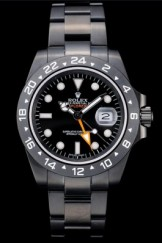 Rolex Explorer Top Replica 9160 Black Ceramic Bezel Black Dial Tachymeter