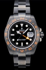 Rolex Explorer Top Replica 9161 Black Ceramic Bezel Black Dial Tachymeter