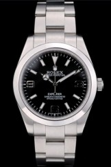 Rolex Explorer Top Replica 9187 Stainless Steel Bezel Black Dial 41984