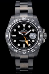 Rolex Swiss Top Replica 9207 Explorer Black Ceramic Bezel Black Dial Tachymeter