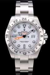 Rolex Swiss Top Replica 9208 Explorer Stainless Steel Bezel White Dial Tachymeter